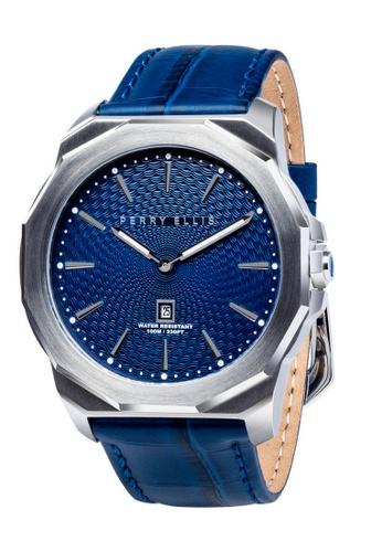 PERRY ELLIS blue Perry Ellis Decagon Men 46mm Quartz Watch 05001-01 D58ECAC76F07A9GS_1