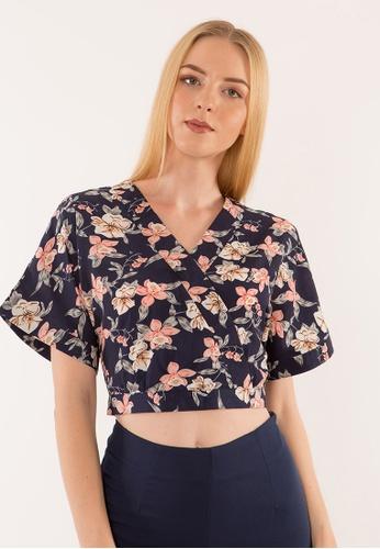 Plain B. multi Plain B. Floral Cropped Top. DFCC0AA01C3061GS_1