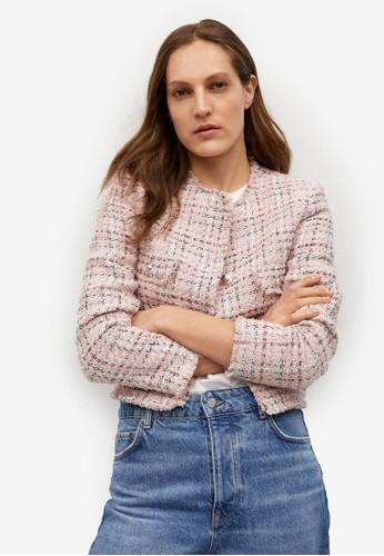 Mango pink Pocket Tweed Jacket 5F9A8AA9D1AB04GS_1
