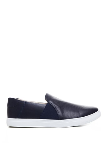 Minarno navy Minarno Navy Leather Slip-On 262 FE675SH90EE072GS_1