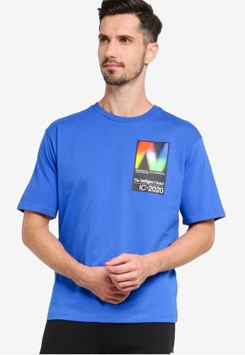 New Balance blue Sport Style Optiks Tee 26815AA4A2DED9GS_1