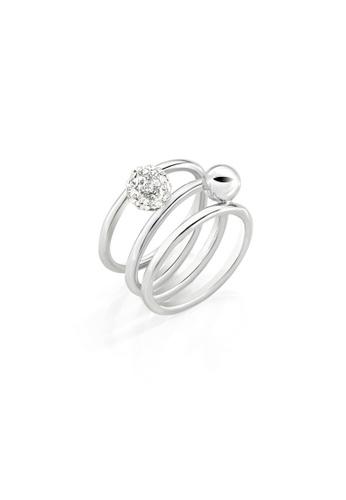 Morellato silver Morellato Luminosa Steel Crystals Ladies Ring SAET09012 0C66CACC9AB191GS_1