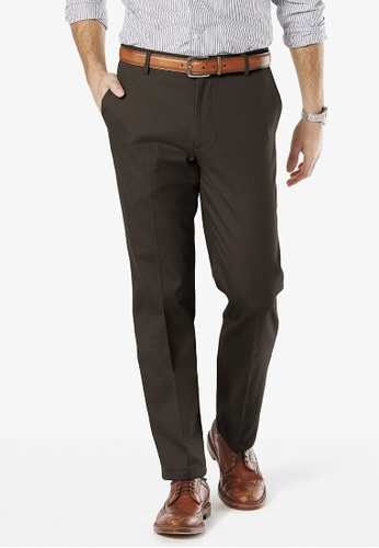 Dockers brown Dockers Stretch Straight Fit Pants Coffee Bean DO282AA0FKUXSG_1
