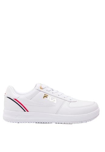 FILA white FHT TT-HERO 77 Leather Sneaker 6E6D7SHC0D62FFGS_1