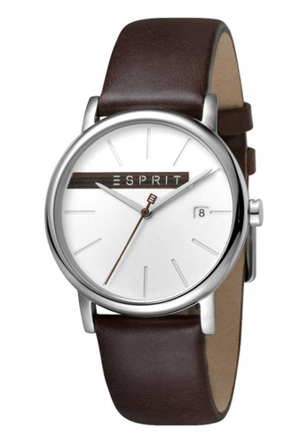 ESPRIT brown Esprit Men Timber Silver Brown ES1G047L0025 0E350ACBA8681DGS_1