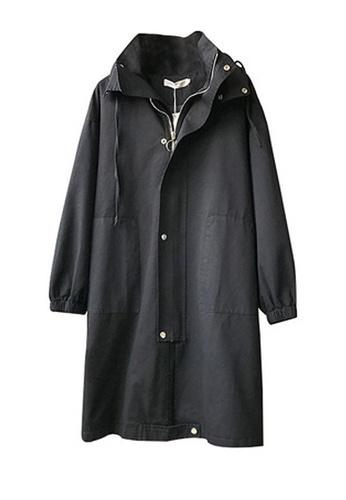Twenty Eight Shoes black VANSA Long Style Trench Coat VCW-T6030 CCF7FAAC3A7CB3GS_1