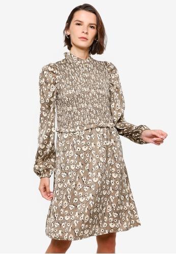 Vero Moda brown Charlotte Smock Dress A002AAA4C775DDGS_1