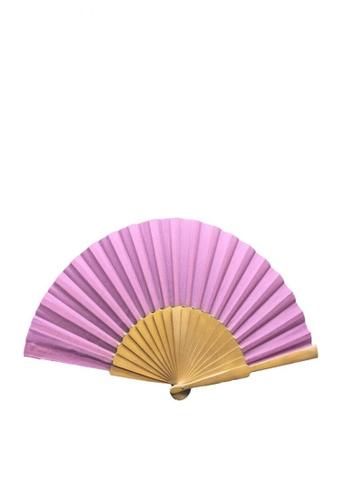 Stylesource pink Big WoodenFan Plain SF017 ST896AC0K87UPH_1