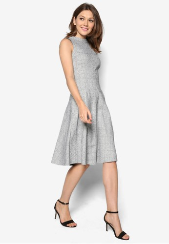 格esprit bag紋無袖連身裙, 服飾, 正式洋裝