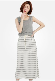 Cozy Casual Stripes Dress