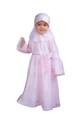 Pretty Girl Collection pink Athalia Gaun Muslim 2683FKADBC481BGS_1