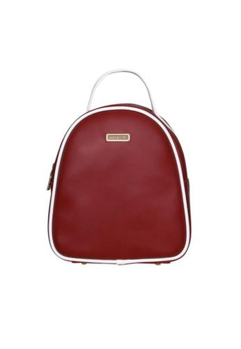 Verchini red Verchini Dome Backpack 9517CAC0F4AE9BGS_1