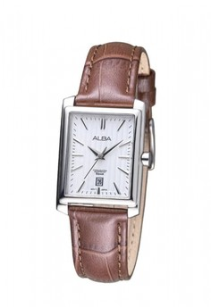 SEIKO brown Jam Tangan Alba Ladies AH7J79 Strap Leather Brown  7A266ACF97A102GS 1 0398be0b9b