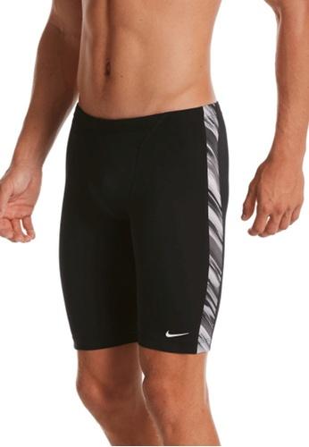 Nike black Nike Swim Men's Sky Stripe Jammer 3CB70USBA9B483GS_1