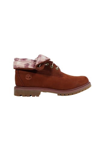 Timberland brown Authentic Roll-Top Boots TI324SH2UQ8YHK_1