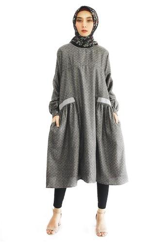 INA PRIYONO grey ANISA Dark Grey Tunik by Ina Priyono AF8DAAA9B35BE6GS_1