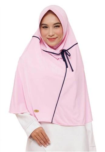 First Hijab pink Hanum Khimar Instan In Pink 38002AAEE66A31GS_1