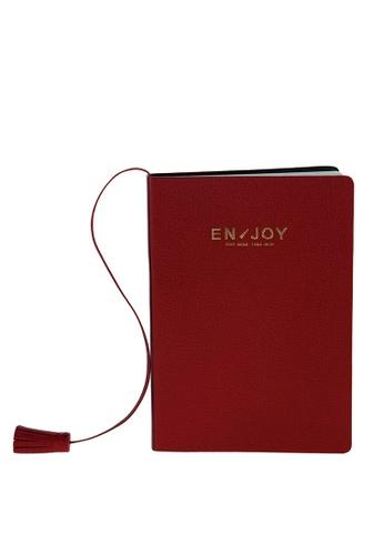 Enjoybag red Eva`s Agenda Italian Goat Leather Small Notebook EN763AC61RUOHK_1