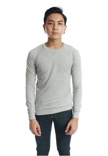 Praise grey Long Sleeves Cut & Sew PR067AA76KJVSG_1