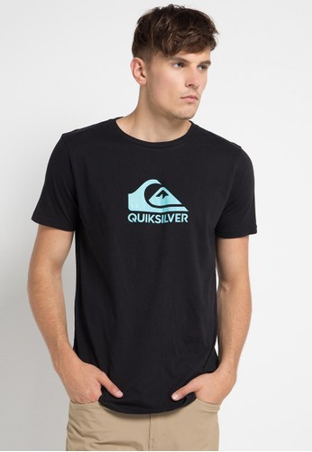 Quiksilver black and multi As Basic Logo T-Shirt A6566AA6073E4EGS_1