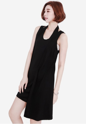 Sesura black Spring Fling Vest Dress 7F834AAEB98268GS_1