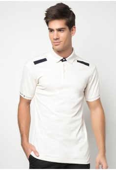 Men's Classic Polo Shirt with Shoulder Detail