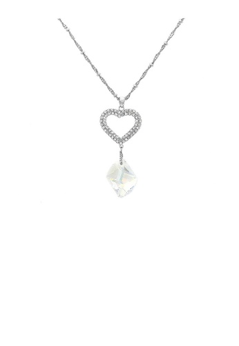 Glamorousky silver Lovely Heart Necklace with Silver Austrian Element Crystal 0EE6AAC2C39660GS_1