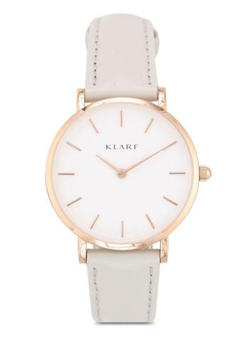 Klarf grey Petite Watch With Leather Bracelet 1E14FACA15356FGS_1