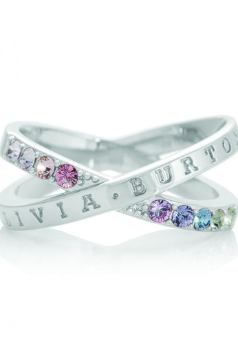 Olivia Burton silver Olivia Burton Bejewelled Classics  SILVER Fixed Ring (OBJRBR04B) 68C23AC9612231GS_1