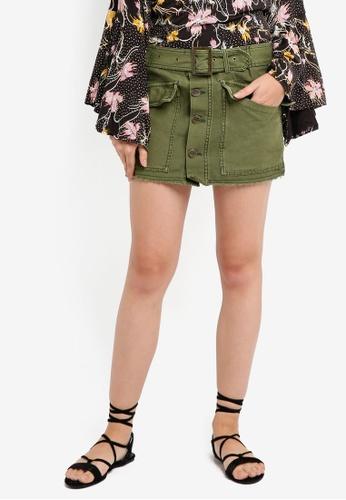 Free People green Hangin On Tight Mini Skirt 46376AAC00C155GS_1