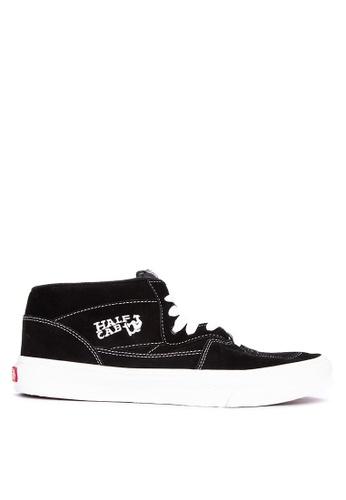 VANS black Half Cab Lace-Up Sneakers 6B4B2SHDDA6115GS_1
