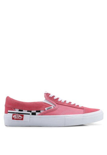 1fa10a1eaf9c VANS white and pink CAP Checkerboard Slip-On 48336SHBB2806CGS 1