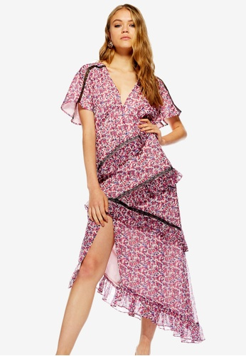 e0683fcdd45 Buy TOPSHOP Ditsy Cluster Midi Dress Online on ZALORA Singapore