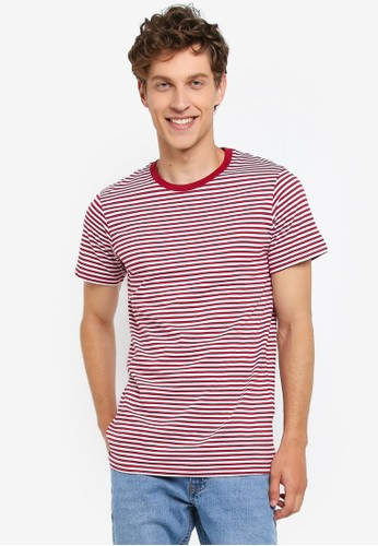 Cotton On red and multi Tbar Premium Crew Tee AFD81AA63886DFGS_1