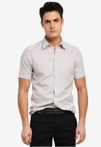 ESPRIT grey Woven Short Sleeve Shirt 2D29CAA1C1509CGS_1