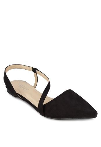 Kimesprit 童裝berley 尖頭繞踝平底鞋, 女鞋, 鞋