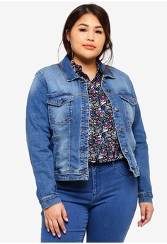 4b8271908693f Only CARMAKOMA blue Plus Size Wespa Denim Jacket 72AEBAA3423CE0GS 1
