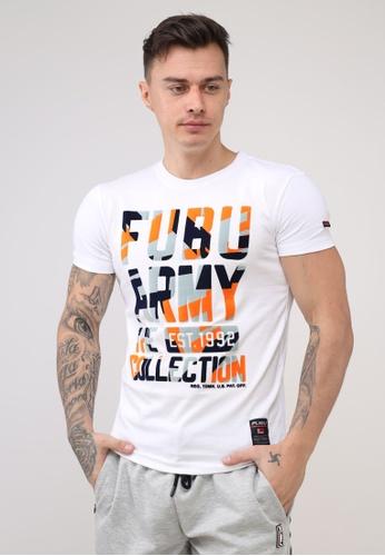 Fubu Boys white Round Neck Muscle Fit T-Shirt 5CD2DAABF8B6E8GS_1