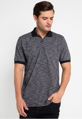 Contempo black Polo Shirt S/S CO339AA0UVY9ID_1