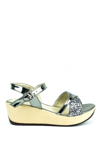 Cardam's Lifestyle silver Nikka Wedge Sandals 64057SH6D4DACAGS_1