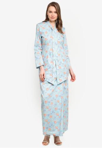 Butik Sireh Pinang blue Baju Kebaya Moden Eryna C553EAAEBDE0C8GS_1