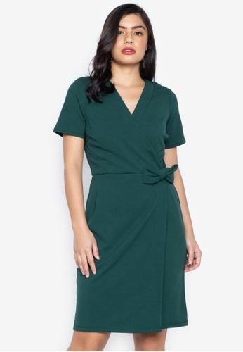 Shop Dorothy Perkins Green Bow Wrap Dress Online on ZALORA Philippines f418bce76