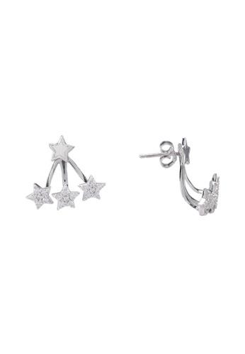 Carlton London silver Star Cuff Earrings 8C903AC67FC701GS_1