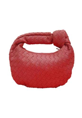 TEERA BELLESA red Esya Mengkuang Bag in Red 670FCACA504F90GS_1
