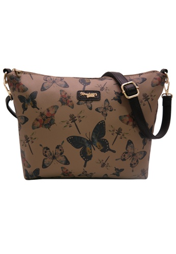 STRAWBERRY QUEEN brown Strawberry Queen Flamingo Sling Bag (Butterfly AS, Dark Brown) 5E065ACB0EA25FGS_1