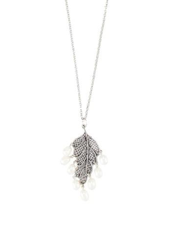 葉子zalora 順豐珍珠吊飾項鍊, 飾品配件, 項鍊