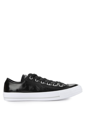 Converse black Chuck Taylor All Star Crinkled Patent Lthr CO302SH0VQMPID_1