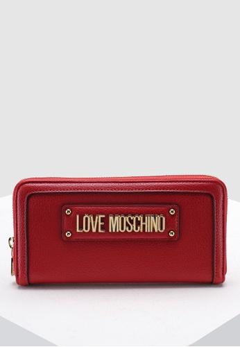 2fb10d250f Shop Love Moschino Textured Grain Zip Around Wallet Online on ZALORA  Philippines