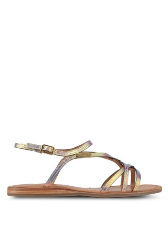 Les Tropeziennes Par M. Belarbi white Menton Multicolour Multi Strap Leather Sandals 13D14SHC1E4D9AGS_1