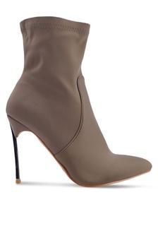 b02906b3762 Haze Silver Stiletto Heel Ankle Boots 17352SH734BFFDGS 1 Public Desire ...
